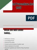 Financial Procedure Act 1957
