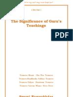 The Significance of Gurus Teachings  -Swami Ramsukh Das ji