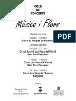 Programa Temps de Flors Girona maig 2011