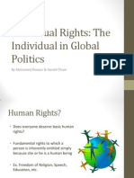 Individual Rights the Individual in Global Politics
