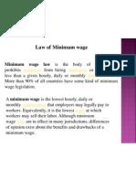 Law of Minimum Wage