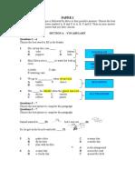 tips for Paper 1 BI UPSR