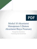 Pertemuan 7 Modul 10 Akuntansi Manajemen I Sistem Akuntansi