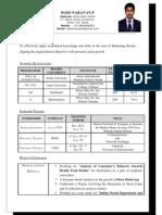 Harinarayan Resume
