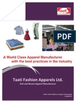 Taati Fashion Apparels Profile 2012