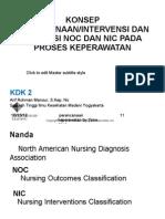 Konsep Perencanaan Intervensi Dan Aplikasi NOC NIC