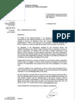 UNESCO/Guillermo Cano Prize - Invitation Letter English