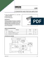 l291 5 Bit d a Converter Position Amplifier