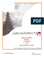 UNREASONABLE FAITH - Reflections on four of the letters of the Apostle Paul