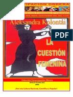 Libro No. 346. La Cuestión Femenina. Kolontái, Aleksandra. Colección Emancipación Obrera. Octubre 13 de 2012