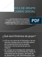 Dinámica de Grupo y cambio social