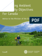 Developing Ambient Air Quality Objectives for Canada