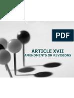 Article Xviiamendments or Revisions