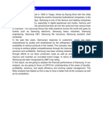 Financial Analysis of Samsung plc