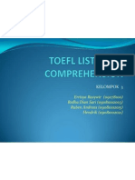 TOEFL Listening Comprehension