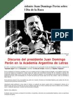 Discurso de Juan Domingo Perón el Día de la Raza