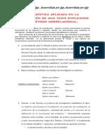 La estadística aplicada en la elaboración de una tesis aplicando el método correlacional