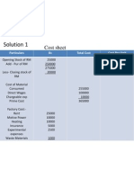 Cost Sheet Solutions