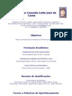 Currículo Completo - Pedro Vinicius Conrado Leite José da Costa - 2012.06 - com foto