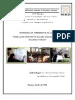 SISTEMATIZACIÓN CURSO FORMULACIÓN DE PROYECTOS SOCIALES BARRIO CARLOS FONSECA