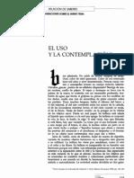Paz Octavio - El Uso y La Contemplacion