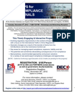 Los Angeles Area WORKSHOPS FOR EXPORT COMPLIANCE PROFESSIONALS Flyer