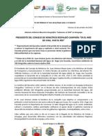 BOLETÍN DE PRENSA 042-2012