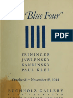 Buchholz Gallery NYC_The Blue Four - Feininger, Jawlensky, Kandinsky, Paul Klee