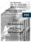 Flyer B&W 13th Annual March to Abolish Death the Penalty