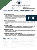 Normas Para Estimular La Creatividad