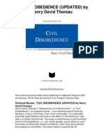Civil Disobedience Updated by Henry David Thoreau - When the State is Unjust