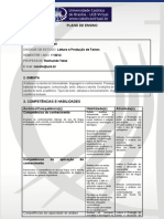 04 - Plano de Ensino - Leitura e Produção de Texto