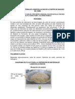 OBTENCION DE MATERIALES LIGNOCELULOSICOS A PARTIR DE BAGAZO DE CAÑA