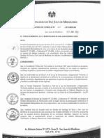 Acuerdo de Concejo 060-MDSJM San Juan de Miraflores 2012