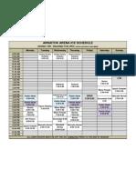 Arnaitok Ice Schedule Oct-Dec 2012
