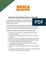 Manual Seguridad Para El Usuario Bosca