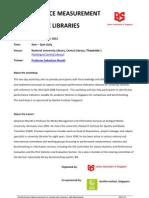 201211 PerformanceMeasurementinAcademicLibraries Outline