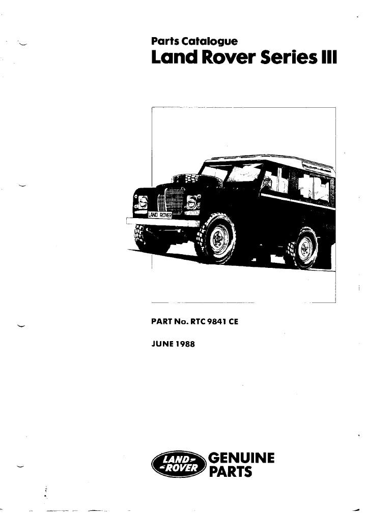 LR Series III Parts Catalogue   Carburetor   Manual Transmission