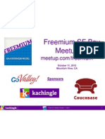 Cynthia Typaldos Overview of Freemium SF Bay Area Meetup Group & Speaker Presentations