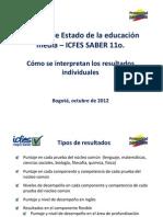 Guia Interpretacion de Resultados Saber 11 Octubre 2012