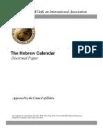 Calendar Doctrinal Statement, Hebrew (Ucg)