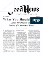 GN-1954-04 HWA What You Should Know About the Passover and Festival of Unleavened Bread