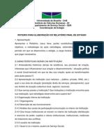 ROTEIRO ELABORAÇAO RELATORIO ESTAGIO