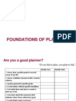 Session - Foundations of Planning