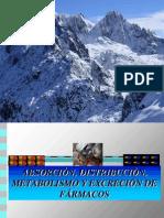 ABSORCIÓN, DISTRIBUCIÓN,  METABOLISMO Y EXCRECIÓN DE FÁRMACOS PARA ENFERMERÍA