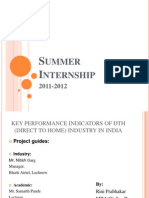 KEY PERFORMANCE INDICATORS OF DTH (DIRECT TO HOME) INDUSTRY IN INDIA