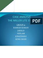 CASE ANALYSIS Miller Brewing RameshRaman 11MBA0089