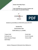 project report on digiworld at mumbai