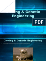 Cloning & Genetic Engineering