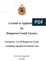Guide for DG Licence